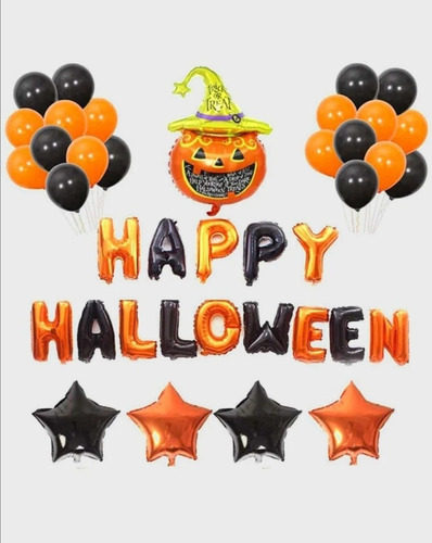 Kit Decoración Halloween Globos Metalizados Halloween