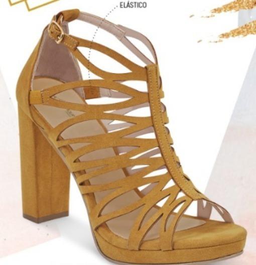 Zapato Dama Altura 10cm Mostaza 060-16 Cklass G&g 2-19 E