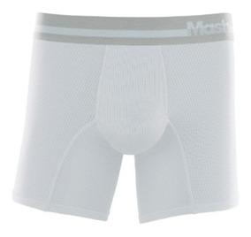 f2ad4d1d2d2f51 Cueca Boxer Longa Microfibra Active Mash - Cuecas Masculinas Branco ...