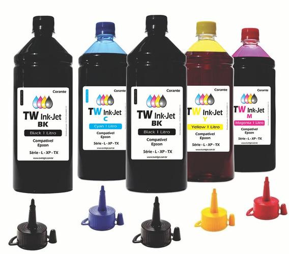 Tinta Compatível Para Epson Ecotank 5 Litros L200 Tw Ink-jet