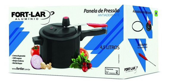 Panela Pressão 4,5 Lts 9033 Antiaderente Teflon Fortlar C15