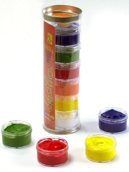 Pintura Dactilos 6 Colores