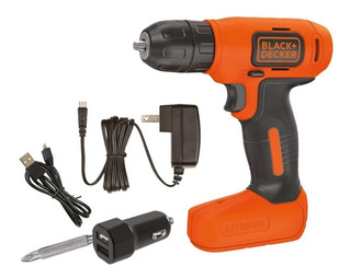 Taladro Inalambrico 8v Cargador Auto Black And Decker Ld008a