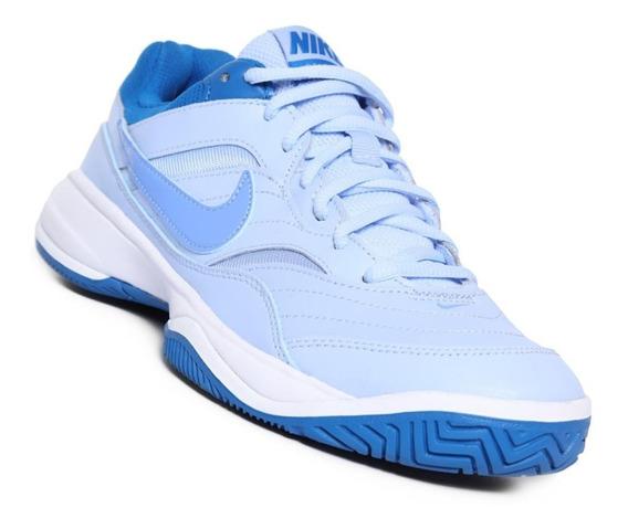 Tenis Nike Court Lite Dama Azul Oferta