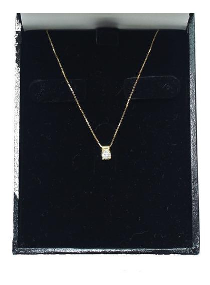 Pocao2005- Colar De Ouro 18k750 Diamante 12x S/j Ft/gt C362