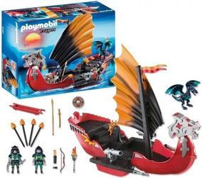 Playmobil Barco De Guerra Do Dragão 5481 Original - Completo