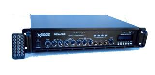 Amplificador Mezclador Musica Funcional Sxa100usbt Blue/usb