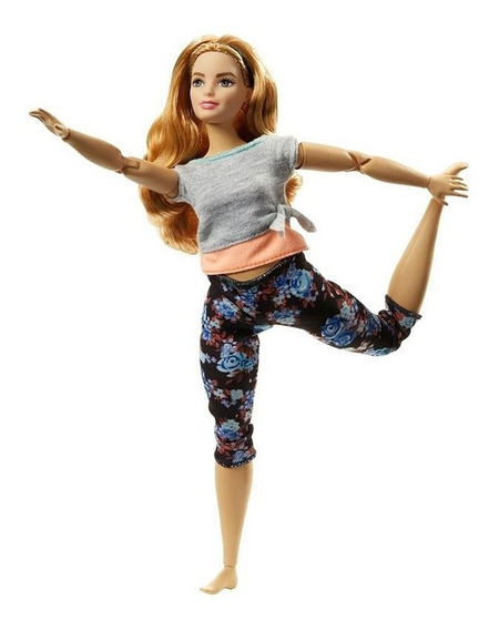 Boneca Barbie Feita Para Mexer Articulada Yoga Ftg80 Mattel