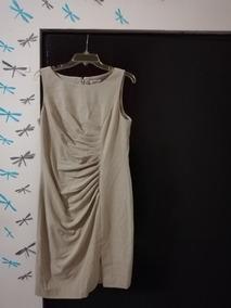 Vestido Calvin Klein - Beige - Original - Una Puesta
