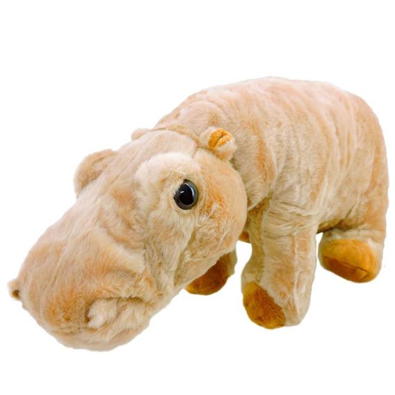 Pelúcia Hipopótamo Caramelo Safari 33cm Comprimento Fizzy