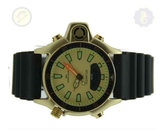 Relógio Masculino Sport Serie Ouro Prata Social Aqualand G32