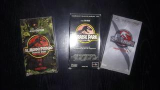 Jurassic Park - Pack De 3 Peliculas -cassette Video Vhs