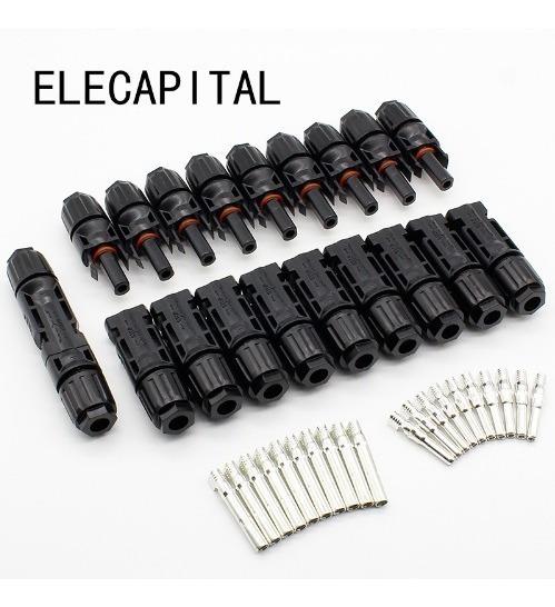 Kit 40 Conectores Mc4 2.5-6mm2 Para Painel Solar