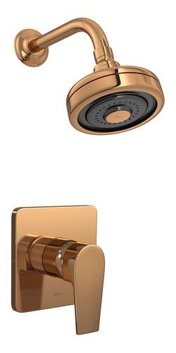 Grifería Monocomando Ducha Embutir Level Red Gold