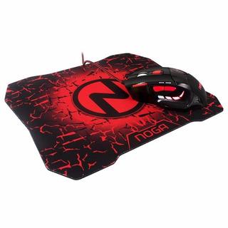 Kit Mouse Gamer Usb Pc Retroiluminado +mouse Pad Noga St-620