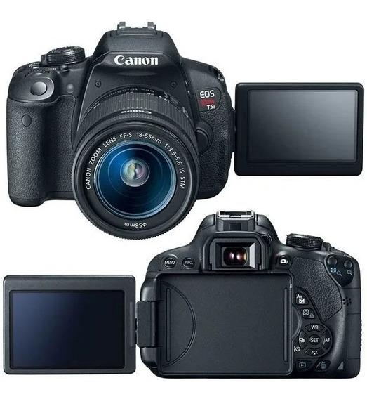 Camera Canon T5i Lente Original + Bateria Reserva + 3 Bônus