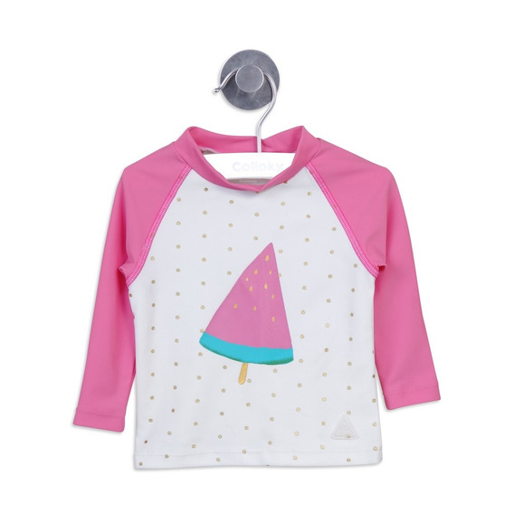 Polera Manga Larga Playa Blanco Girl Colloky