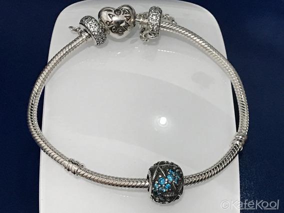 Oceanic Starfish Charm Compatible Pandora Plata 925 Cristal