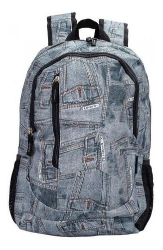 Imagem 1 de 1 de Mochila Vix Chenson Jeans Escolar Trabalho Casual