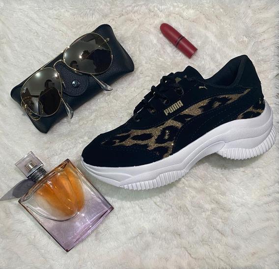 Tenis Puma Plataforma Femme Carol Star Shoes