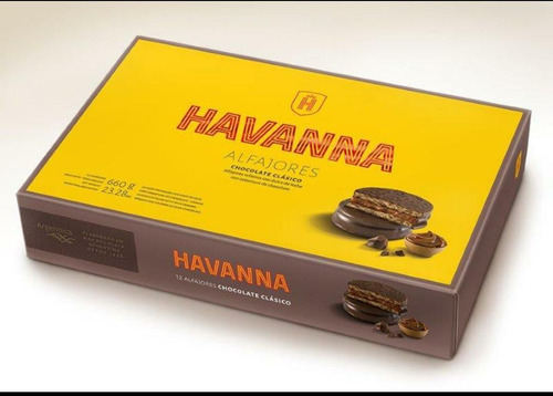 Alfajores Havanna X 12 Chocolate Golosinera Naranjaylimon