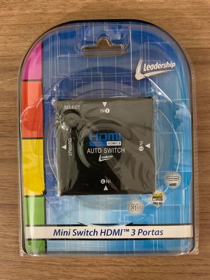 Switch Hdmi Mini 3 Portas 3315 Leadership Mini Hub