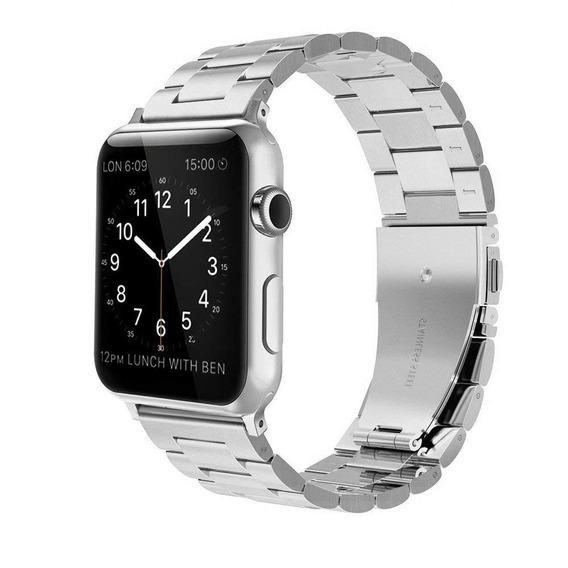 Correa Para Apple Watch Eslabon Acero Compatible 42mm