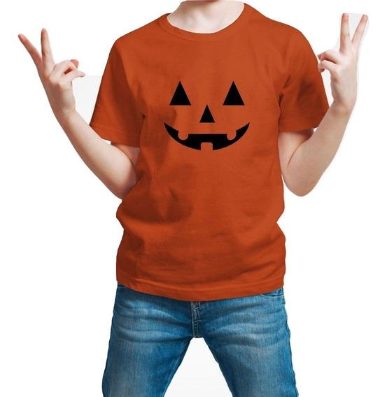 Playera Halloween Helloween Calabaza Niño 1 Pza