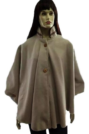 Poncho Feminino De Lã
