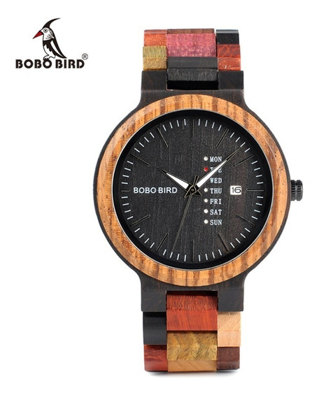 Reloj De Madera Bobo Bird Original Calendario Mujer