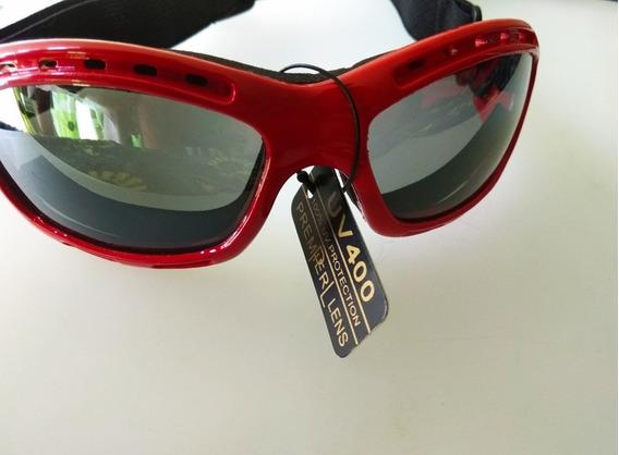 Lentes Goggles Senderismo Moto Bici Deportes Extremos Red