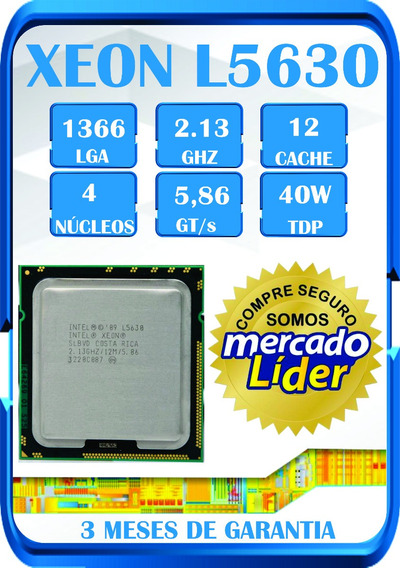 Processador Intel Xeon L5630 = I7-930 Lga1366 Gammer Game