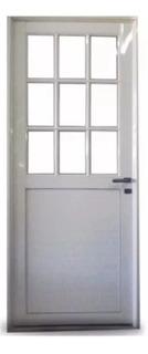 Puerta Aluminio 1/2 Vidrio Rep 4mm Puerta Pesada 6 Cuotas