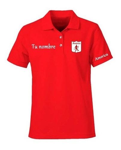 Camiseta Tipo Polo Personalizada América De Cali  Diablo