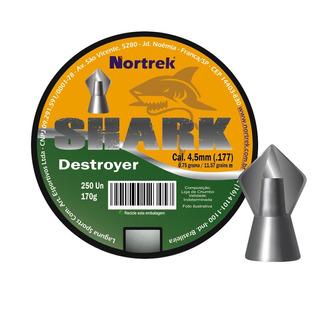 Chumbinho Shark 4,5mm C/250 Un Tipo Bolt Destruição