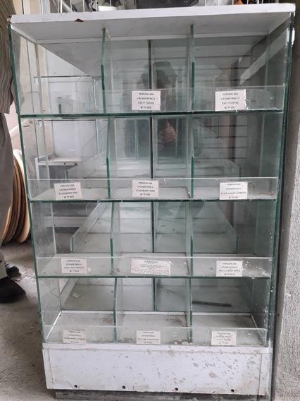Exhibidor De Vidrio Con Madera