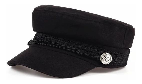 Sombrero Militar Gorro Militar Boina Plana Jockey Unisex