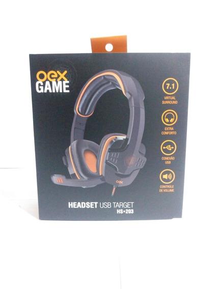 Headset Oex Target Hs203