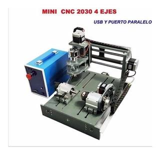 El Mas Nuevo Mini Cnc Router 2030 2 En 1 De 4 Ejes