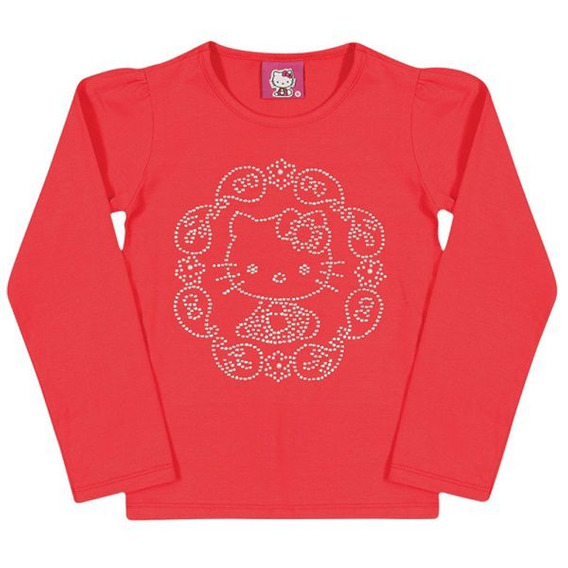 Blusa Laço - Coral - Hello Kitty Baby