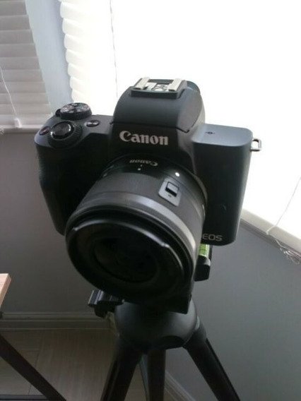 Digital Canon Eos M50 24.1mp 3.0 Lente Ef-m 15-45mm Is Stm
