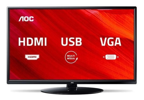 Tv Led 24 Aoc Le24m1475, Hd, 2 Hdmi, Usb, Conversor Digital