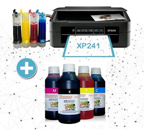 Imagen 1 de 10 de Impresora Epson Xp241 Sistema Continuo + 1 Litro De Tinta