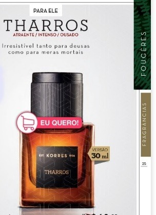 Pefume Masculino Korres Tharros 30 Ml