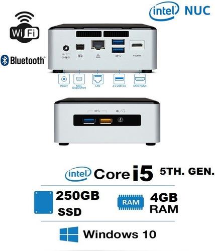 Imagen 1 de 6 de Mini Pc Cpu Computador Nuc Intel Core I5 4gb Ram 250gb Ssd