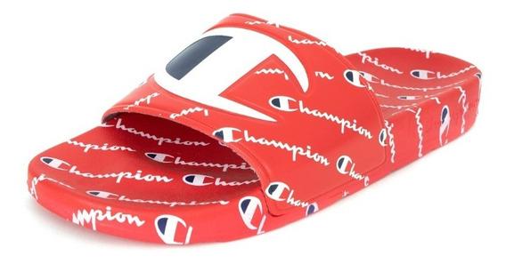 Sandalias Champion Originales Ipo Repeat Slides Red