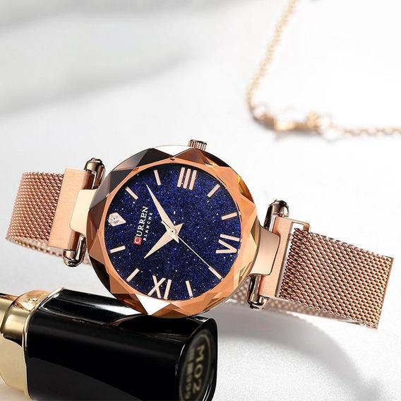 Reloj Curren Dama Análogo Elegante Formal Cantary Oro Rosa