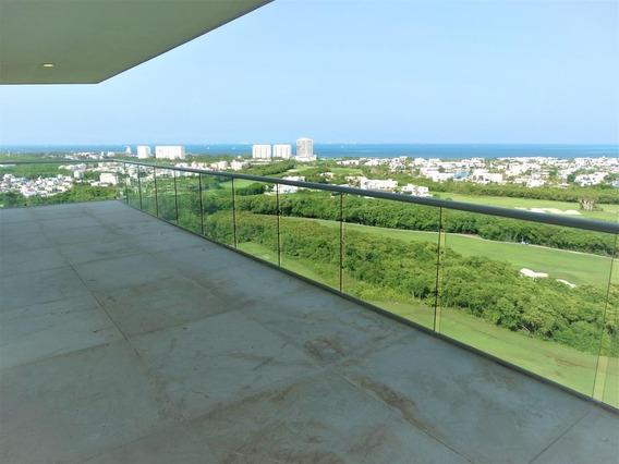 Departamento Penthouse En Venta De 4 Recámaras, En Sky Residences, Avenida Bonampak, Puerto Cancún.