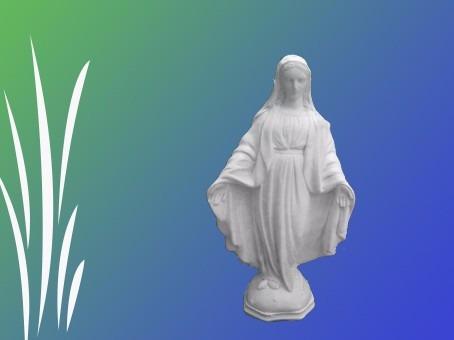 Virgen Medalla Milagrosa 30 Cm Yeso Para Pintar 12300