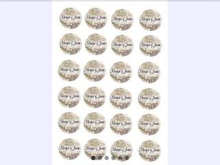 4 Planchas De Stickers Para Candy Bar Personalizados